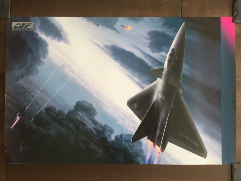 COLOR Glossy Lockheed/Boeing Aircraft Poster-circa 1990s