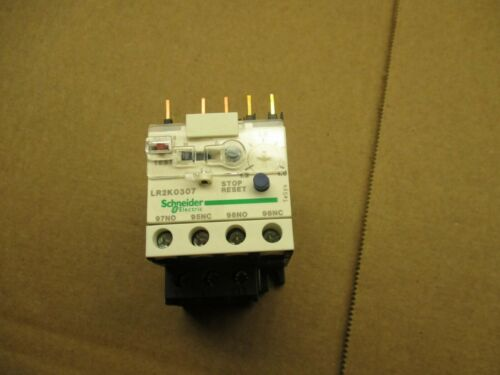 SCHNEIDER ELECTRIC LR2K0307 OVERLOAD RELAY #520236T USED