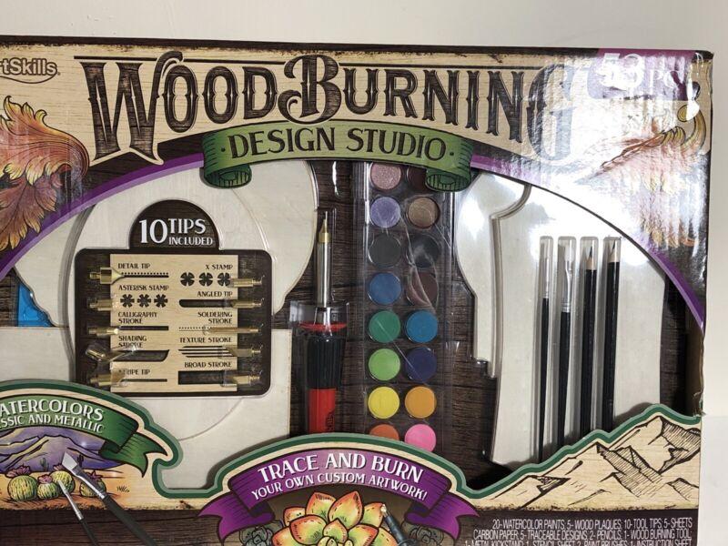 Wood Burning Tool Kits Craft Set Soldering Pyrography Art Pen Brass Tip 53 Piece