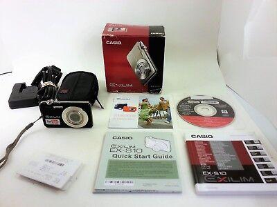 Casio EXILIM EX-S10 10.1 MP Digital Camera -w/4GB Memory Card - Tested & Working
