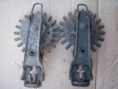 Vintage Rare Pair CHURCH BROS MFG Wire Fence Puller Drive Gear Patented 1910