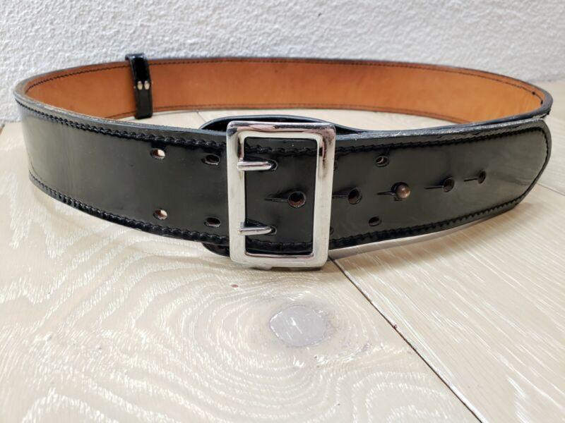 Dutyman 1031 Full Grain Leather Belt 44 Leather Belt Police Style Black Gloss #1