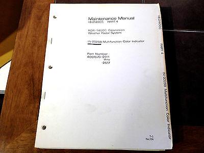 Service Indicator Manual - Bendix IN-2025B Radar Indicator  Service Manual