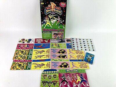 1994 Mighty Morphin Power Rangers Valentine Cards Kit with Bonus Sticker USA J7