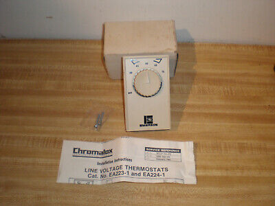 New Old Stock-chromalox Emerson Line Voltage Thermostat Ea224-1
