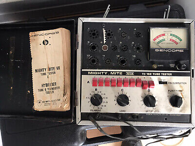 Sencore Mighty Mite Vii Tc-162 Tube Tester With Manual