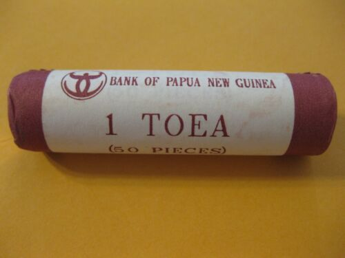 Papua New Guinea Coin Roll 1Toea  BUTTERFLY Uncirculated Beauty world 50 coins