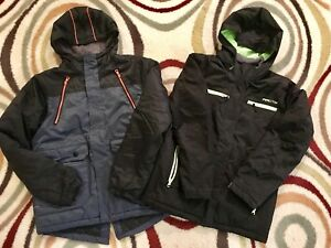 Boys youth size L  size 10-12 winter jackets boots