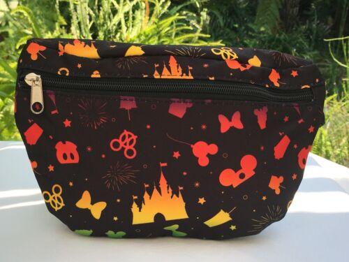 Disney Parks Ombre Rainbow Disney Icons Fanny Pack Belt Bag Adjustable NWT