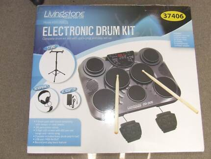 Electronic Drum Kit & Chair Weyba Downs Noosa Area Preview