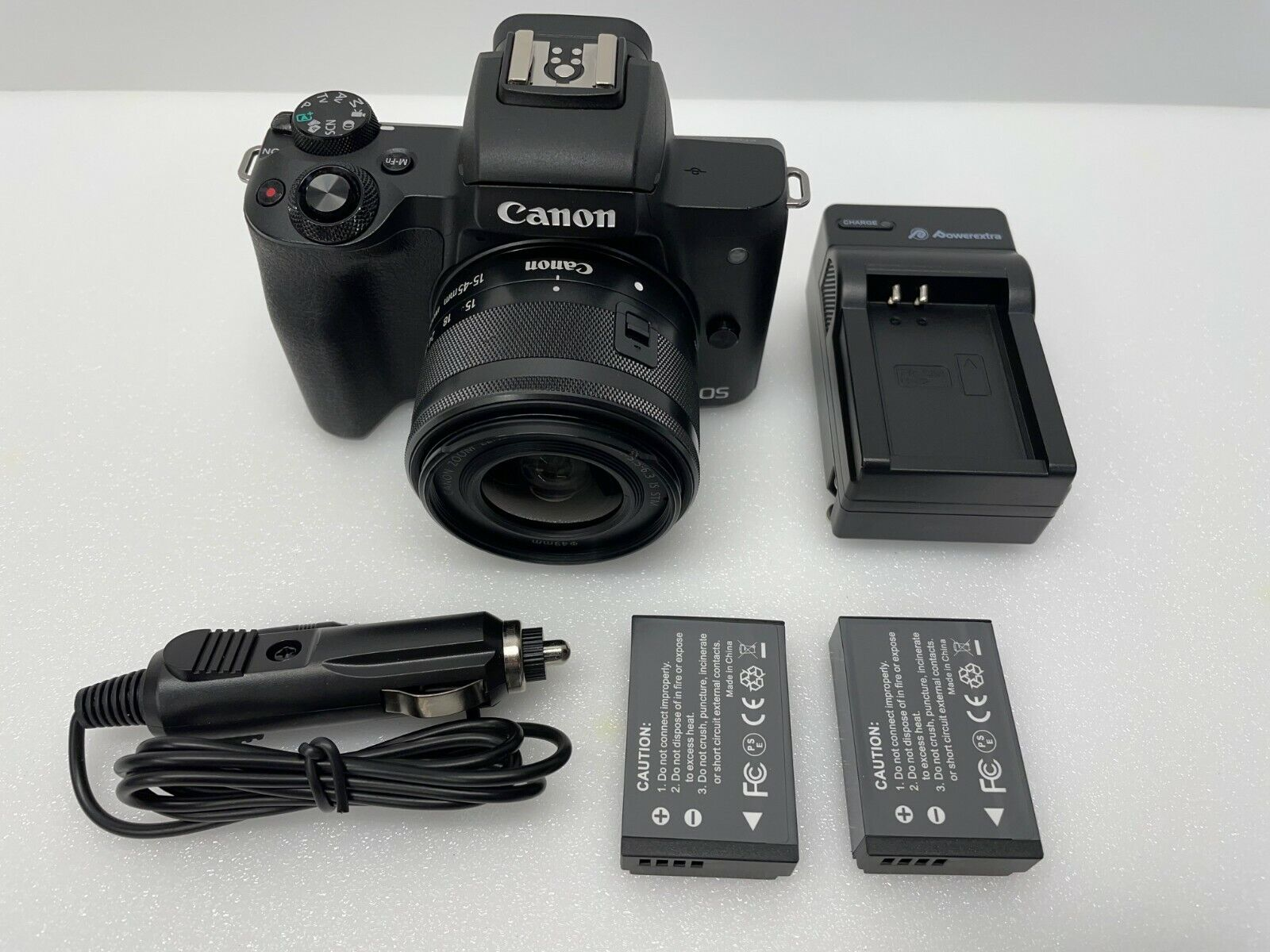 Canon EOS M50 24.1MP Mirrorless Digital Camera with 15-45mm