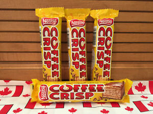 Canadian Nestle Coffee Crisp Chocolate Bars!! 4 x 50g. Ships fast from USA!