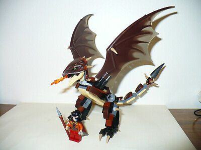 C107 Lego Custom Wizard Minifigure with Magic Wand /& Fire Magic Black NEW