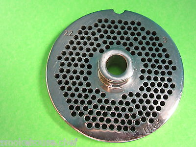 22 X 18 Meat Grinder Plate W Hub Stainless Fits Hobart Tor-rey Lem More