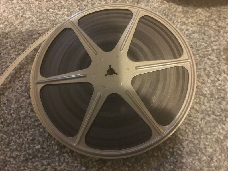 """8mm 7"""" Movie Film Metal Take Up Reel 400' with Unknown Home Movie"""