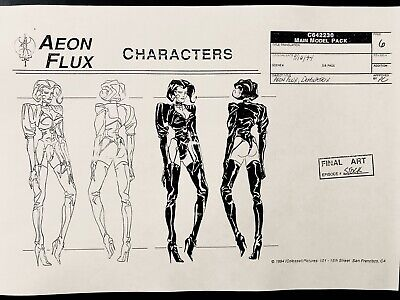 Peter Chung's Aeon Flux Main Character and Background Production Settei 64 Sheet