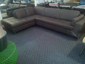 Brown leather lounge St Marys Penrith Area Preview