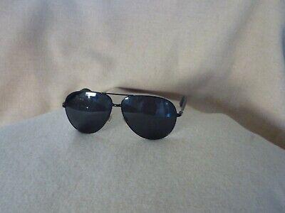 Ralph Lauren Sonnenbrille Pilot schwarz mit Etui Gläser grau