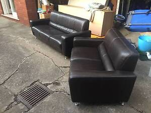 Great condition leather couch, living room, family room, 5 seater Burwood Burwood Area Preview
