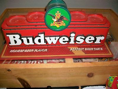 Budweiser beer back bar bottle display sign