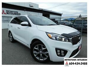 2016 Kia Sorento 3.3L SX+ 7-Seater; Local BC vehicle!