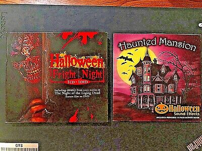 Halloween Fright CD + DVD Night of the Living Dead & Sound Effects horror scary](Halloween Fright Night Cd)