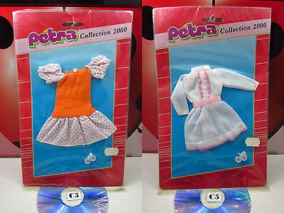 Lot 2x PETRA Collection 2000 Doll Clothes Fashion Outfit Vintage Plasty 80s Rare