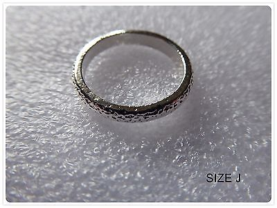 Cute Simple Ring, Size J,Children,Unisex,Frosted,Gift Idea,Fashion,Band,Costume