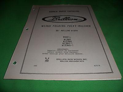 Drawer 16 Brillion Wl360 Folding Pulvi-mulcher Repair Parts Catalog Wls360