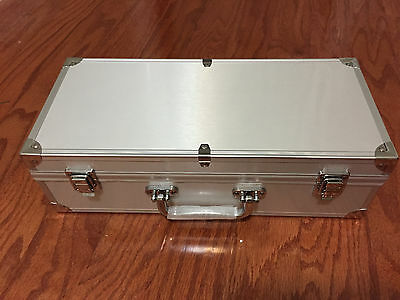 Aluminum Storage & Display Box Case Holds 50 PCGS NGC ANACS Coin Holders Slabs