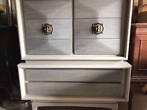MCM Walnut 3-D Diamond dresser for sale. Free delivery