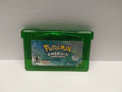 Pokemon Emerald Version GBA AUTHENTIC Game Boy Advance TESTED Dry Battery FAST