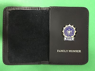 NYPD Detective Family Member Wallet with Union Mini Badge - 2017 NYPD PBA - NYC