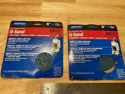 24 Grit Norton U-sand Floor Sander Hook Loop Discs -sandpaper - 2 Packs Of 4