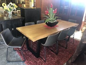 American Chestnut Raw-Edge 9 Piece Dining Suite Wangara Wanneroo Area Preview