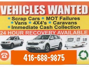 MORE $$$CASH$$$ FOR SCRAP CARS & USED CARS 4166889875
