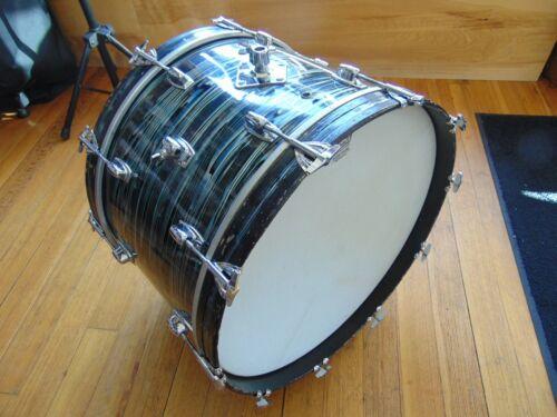 Vintage Ludwig Standard  22 x 14 Bass Drum Blue Strata