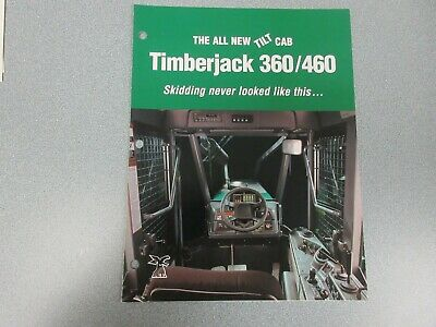 Timberjack 360 460 Cable Grapple Skidders Sales Brochure 4 Pages