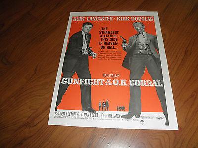 GUNFIGHT AT THE O.K CORRAL_KIRK DOUGLAS_BURT LANCASTER-Original Movie Promo AD