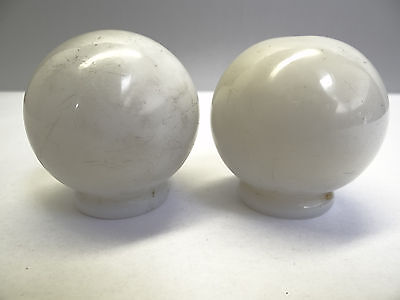 Antique White Glass Architectural Decorative Finial Pieces Balls Accent Parts