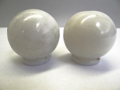 Antique White Glass Architectural Decorative Finial Pieces Balls Accent Parts