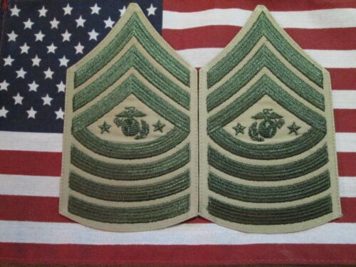 USMC US Marine Corps Male Sergeant Major of the Marine Corps Chevrons Pair New