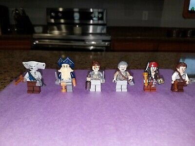 LEGO Pirates of the Caribbean 4184 - All 6 Mini Figures - Excellent Condition