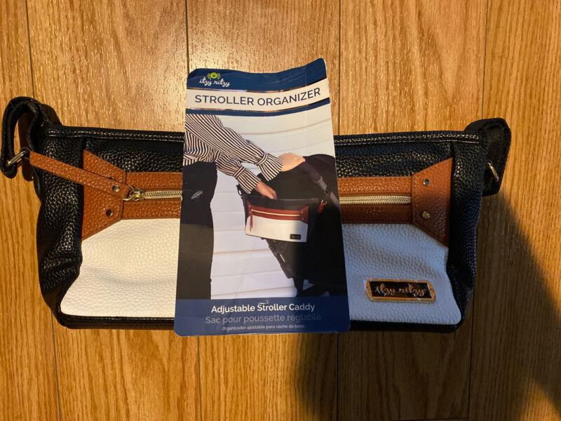 Itzy Ritzy Adjustable Stroller Caddy – Stroller Organizer Coffee Cream CAD6001