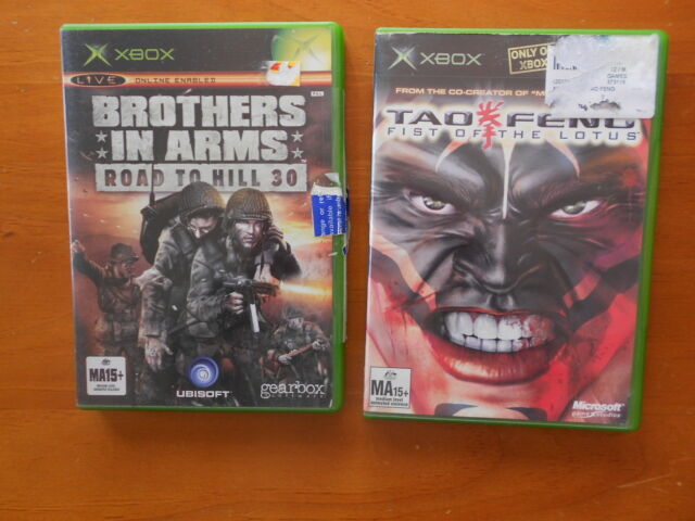 X BOX GAMES BROTHERS IN ARMS ROAD TO HILL 30 + TAO FENG FIST OF LOTUS -FAST POST