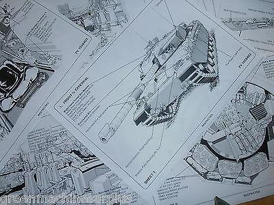 Challenger tank.MK1. Stowage diagrams x 6