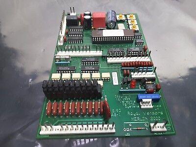 Merlin 2000 Royal Vendors Vending Machine Control Board Rev 1.11 Sale Used 199