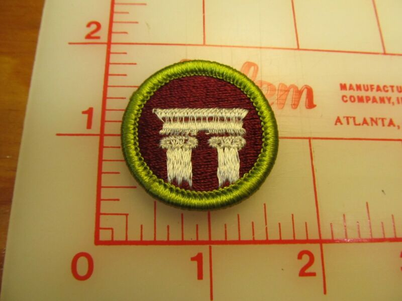 ARCHITECTURE merit badge plastic backed patch (oP)