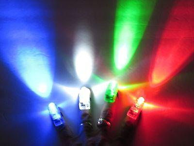 Finger Lights Set of 4 - Party Lights, RAVE, Disco Party, DJ's Tiny Flashlights