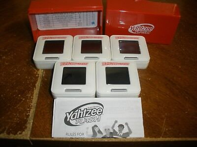 Hasbro Yahtzee Flash Game with 5 Electronic Dice a Red Portable Case & Rules for sale  Elizabethtown